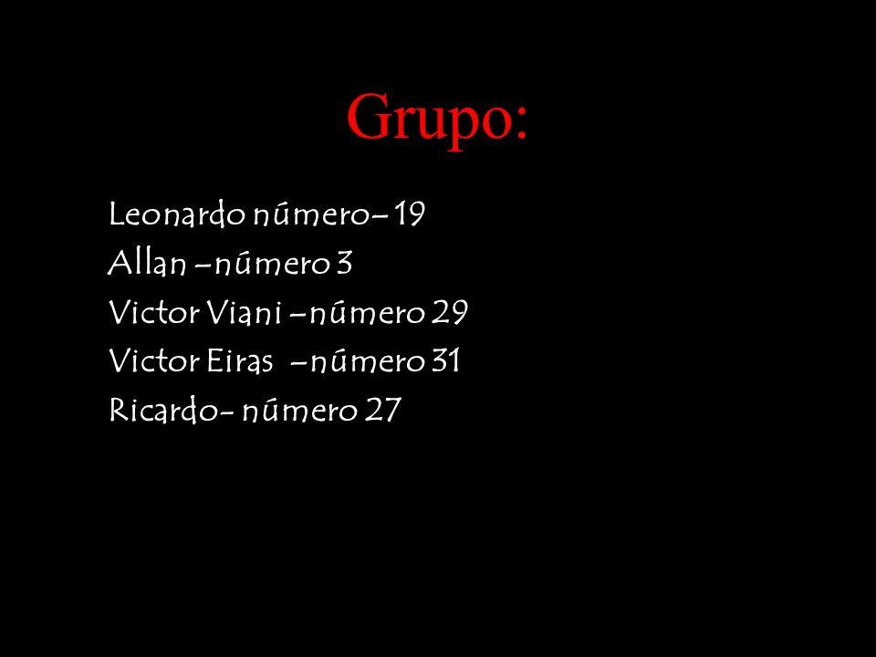 Grupo: Leonardo número– 19 Allan –número 3 Victor Viani –número 29 Victor Eiras –número 31 Ricardo- número 27