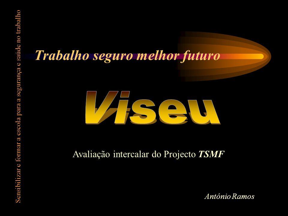 Trabalho seguro melhor futuro Sensibilizar e formar a escola para a segurança e saúde no trabalho Avaliação intercalar do Projecto TSMF António Ramos