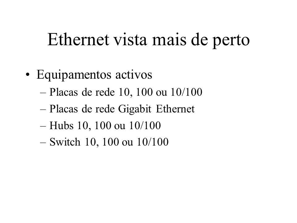 Ethernet vista mais de perto O Hub Ethernet –Quando um computador fala os outros calam-se –Já é mais barato que a chuva