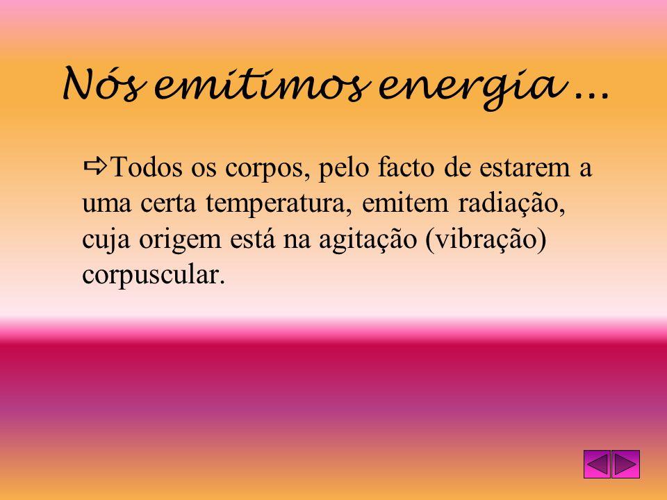 Nós emitimos energia...