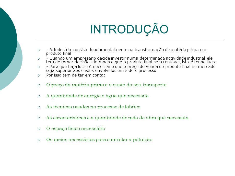 INTRODUÇÃO 2 Vamos testar o que aprendeste: (Clica na hiper ligação e resolve o questionário) Factores de localização industrial