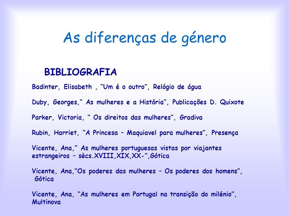 As diferenças de género FIM