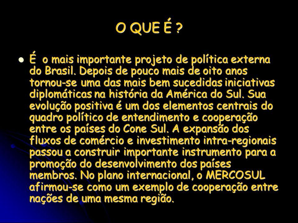 O QUE É ? É o mais importante projeto de política externa do Brasil. Depois de pouco mais de oito anos tornou-se uma das mais bem sucedidas iniciativa