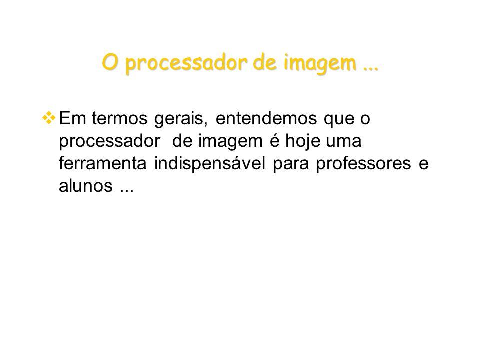 O processador de imagem...