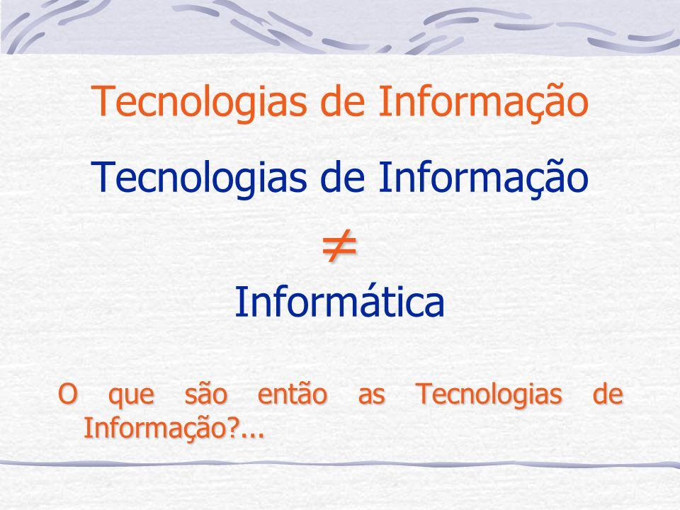 Controlo Comunicação Computador Áreas das Tecnologias de Informação