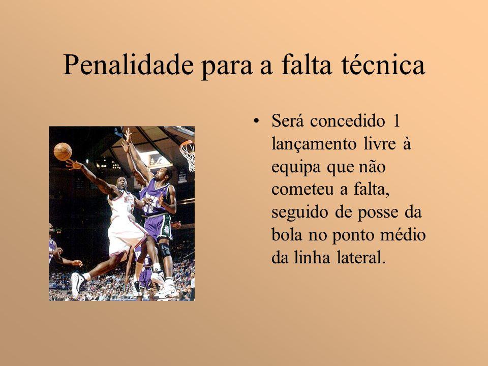 Falta Técnica São faltas de um jogador que não envolvem contacto com um adversário; Quando um jogador despreze as advertências feitas pelo árbitro ou dirija- se desrespeitosamente a ele.