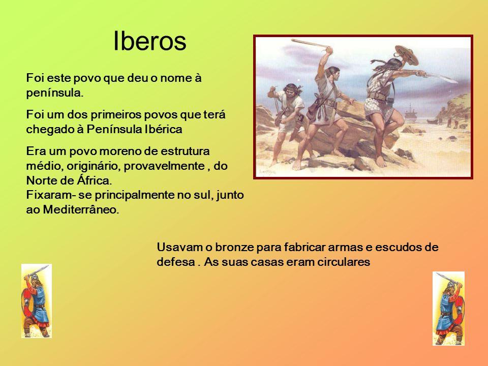 Foi este povo que deu o nome à península. Foi um dos primeiros povos que terá chegado à Península Ibérica Era um povo moreno de estrutura médio, origi
