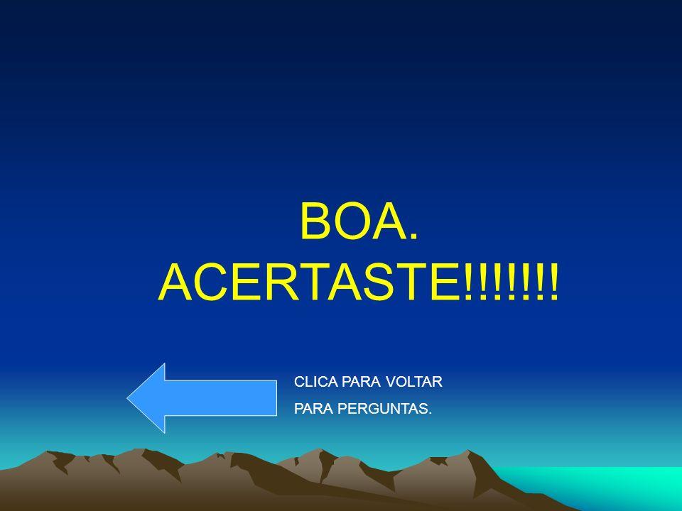 BOA. ACERTASTE!!!!!!! CLICA PARA VOLTAR PARA PERGUNTAS.