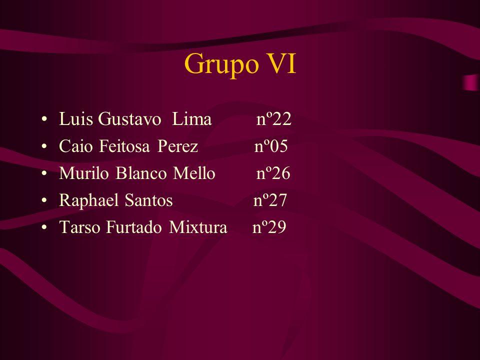 Grupo VI Luis Gustavo Lima nº22 Caio Feitosa Perez nº05 Murilo Blanco Mello nº26 Raphael Santos nº27 Tarso Furtado Mixtura nº29