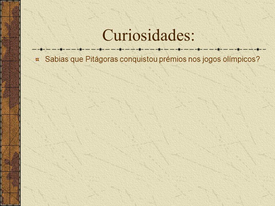 Curiosidades: Sabias que Pitágoras conquistou prémios nos jogos olímpicos?