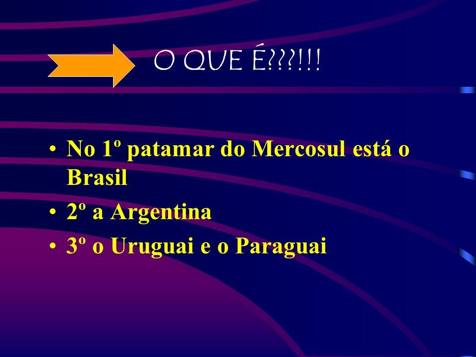 O QUE É???!!! No 1º patamar do Mercosul está o Brasil 2º a Argentina 3º o Uruguai e o Paraguai