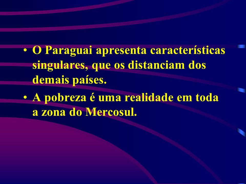 O Paraguai apresenta características singulares, que os distanciam dos demais países. A pobreza é uma realidade em toda a zona do Mercosul.