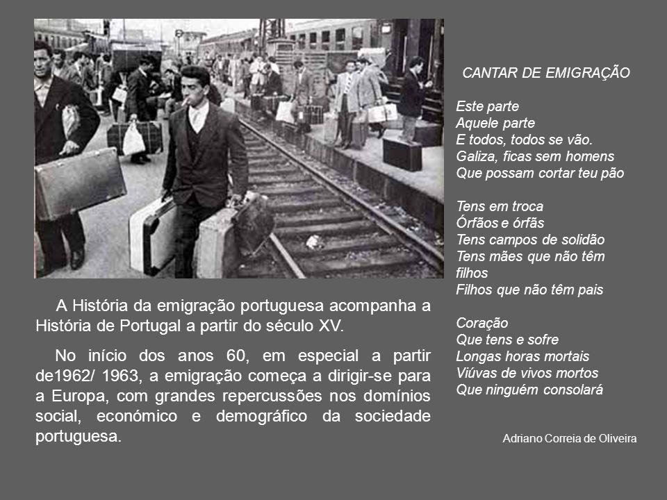 A França e a Alemanha passaram a constituir o destino prioritário dos emigran- tes portugueses.