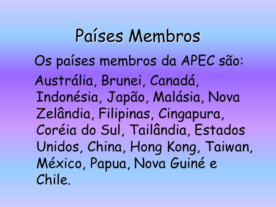 Aspectos Negativos Um dos maiores problemas da APEC, senão o maior é a grande dificuldade em coincidir os diferentes interesses dos países membros e daqueles que estão ligados ao bloco, como Peru, Nova Zelândia, Filipinas e Canadá.