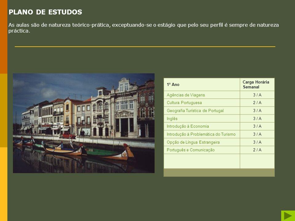 Gestão de Empresas Turísticas SAÍDAS PROFISSIONAIS Os diplomados em Gestão de Empresas Turísticas encontram-se habilitados para exercer a sua activida