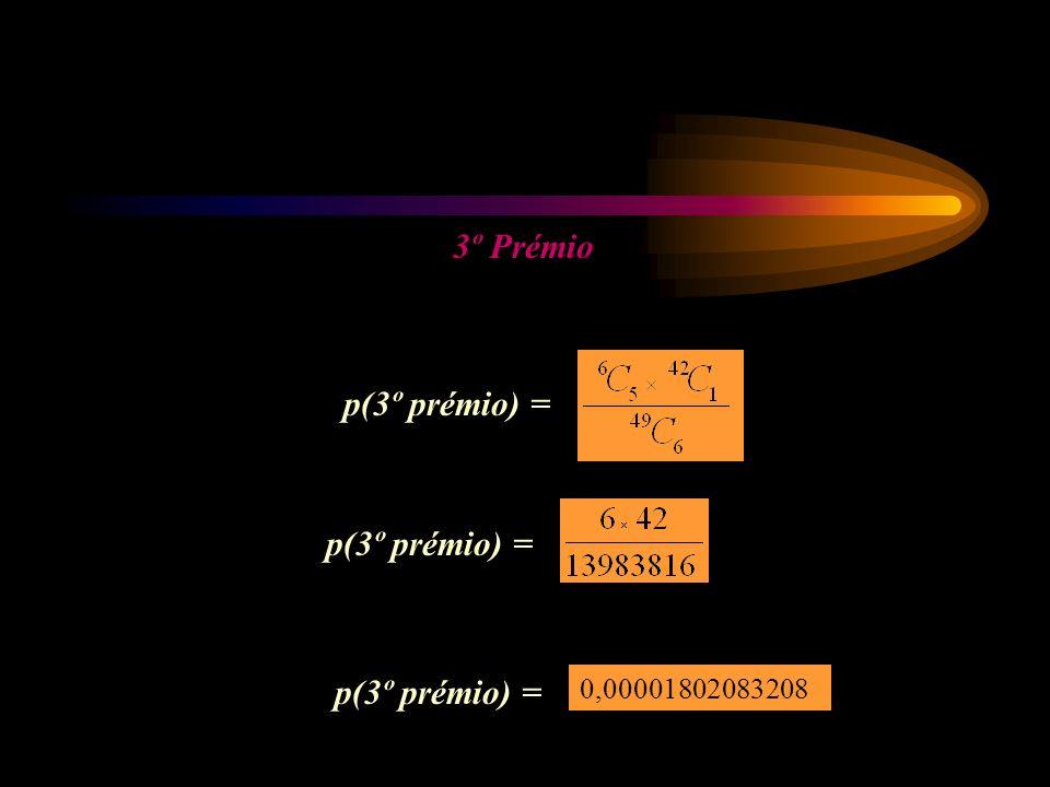 3º Prémio p(3º prémio) = 0,00001802083208