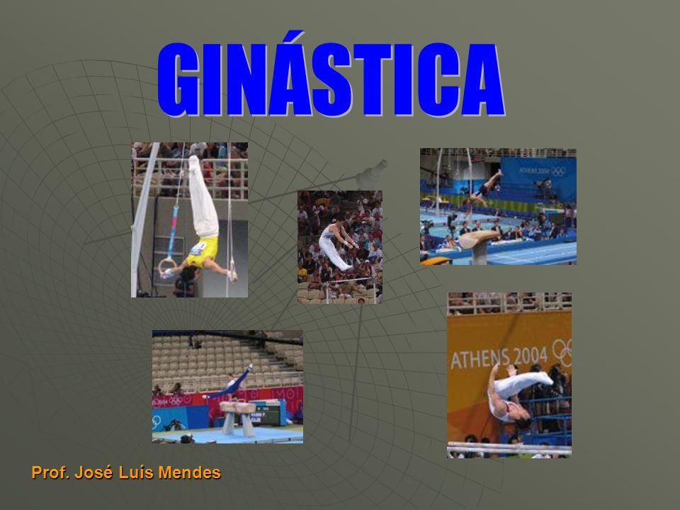 As Ginastas executam exercícios em 4 (quatro) aparelhos: As Ginastas executam exercícios em 4 (quatro) aparelhos: Solo; Solo; Salto de cavalo; Salto de cavalo; Trave Olímpica; Trave Olímpica; Paralelas Assimétricas.