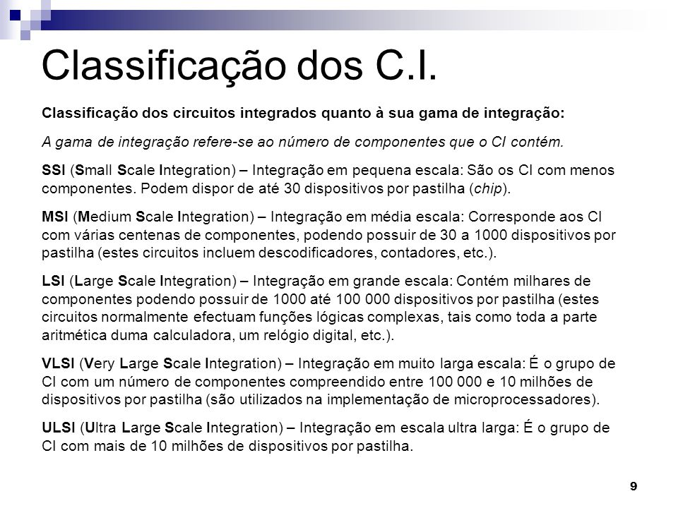 10 Tipos de cápsulas do C.I.