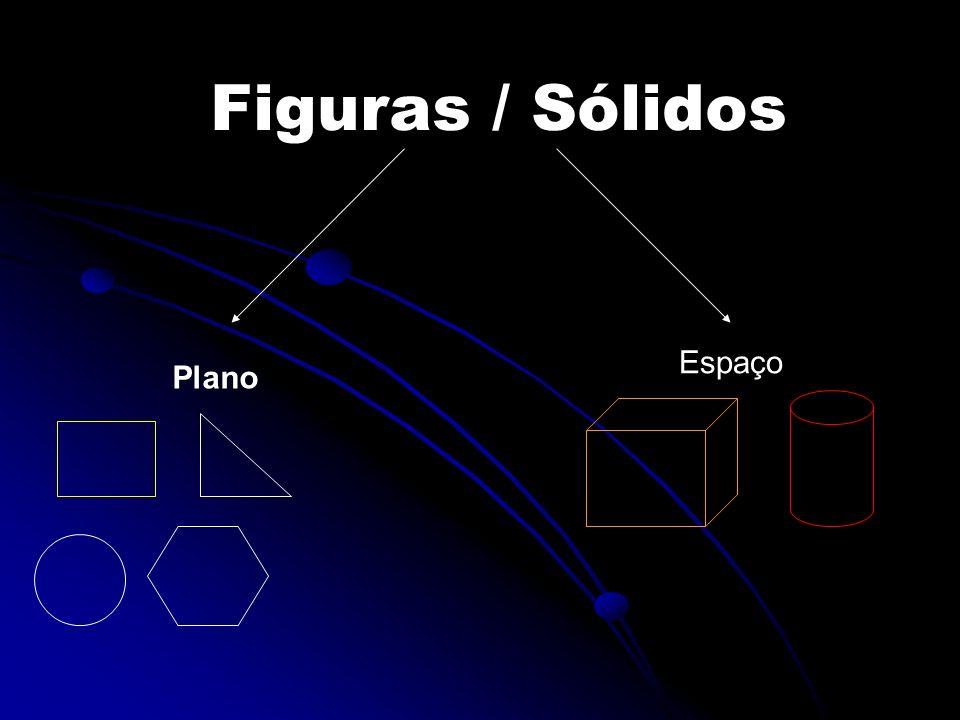 Figuras planas- Polígonos Figuras em que os lados são segmentos de recta Figuras em que os lados são segmentos de recta Exemplo: quadrado O círculo não é um polígono