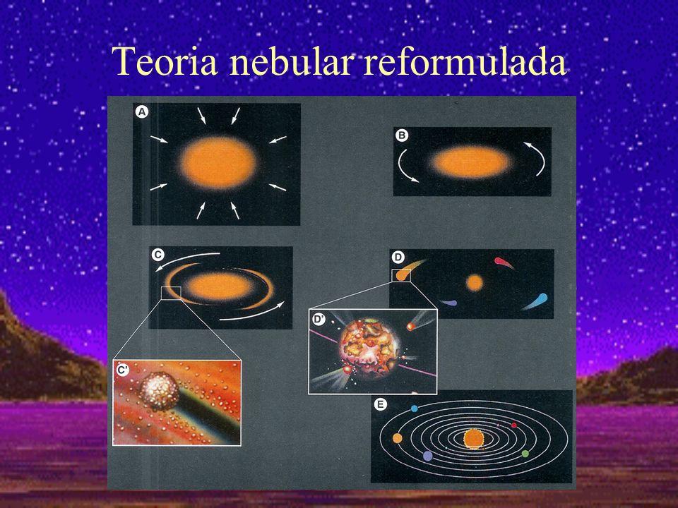 No espaço entre as estrelas da nossa galáxia existia uma nébula de gases e poeiras A nébula ter-se-ia contraído graças à existência de forças de atracção gravítica entre as diferentes partículas que a constituíam.