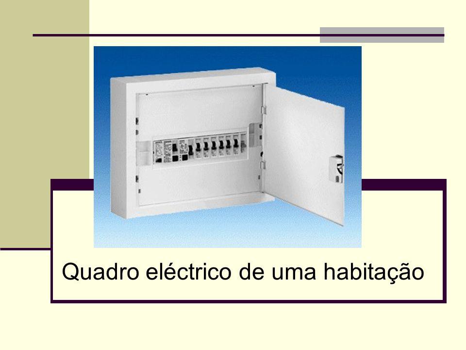 2 Dispositivos de protecção É nos quadros eléctricos que se encontram os dispositivos para a protecção dos circuitos eléctricos contra sobreintensidades (curto – circuitos ou sobrecargas) e para a protecção das pessoas contra contactos directos e indirectos.