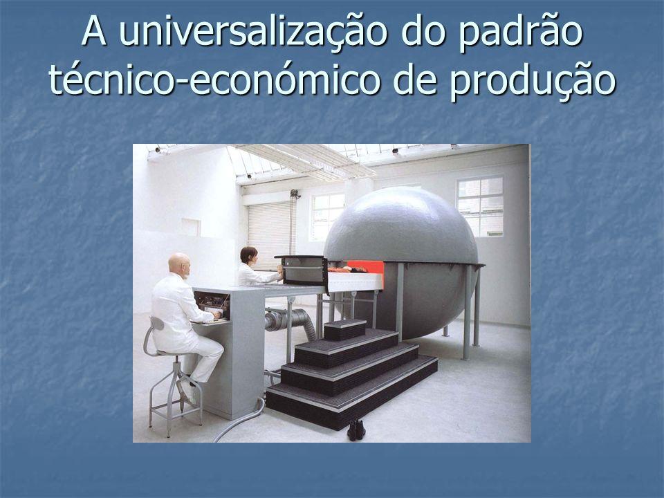 A universalização do padrão técnico-económico de produção