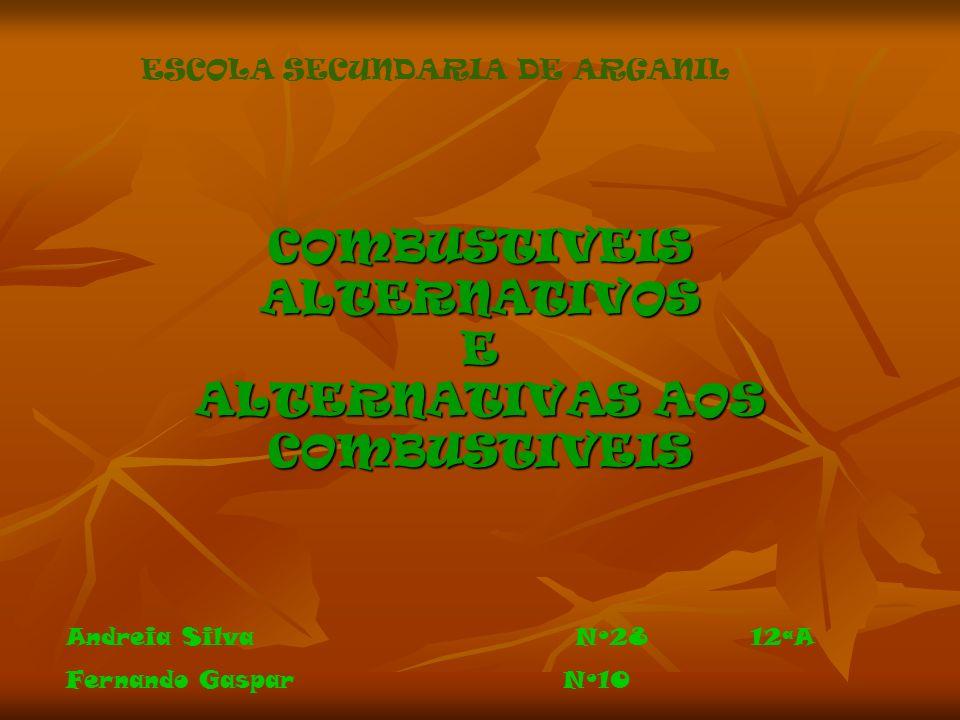 COMBUSTIVEIS ALTERNATIVOS E ALTERNATIVAS AOS COMBUSTIVEIS ESCOLA SECUNDARIA DE ARGANIL Andreia Silva Nº28 12ªA Fernando Gaspar Nº10