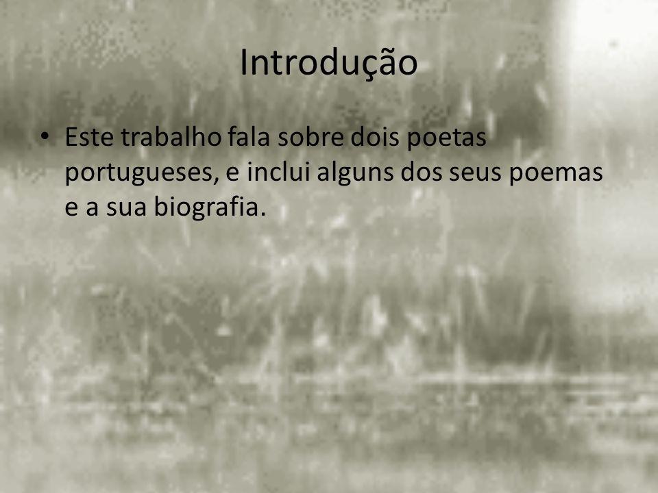 Índice Introdução Fernando Pessoa – Mar português Mar português – E há poetas que são artistas E há poetas que são artistas – Todas as cartas de amor