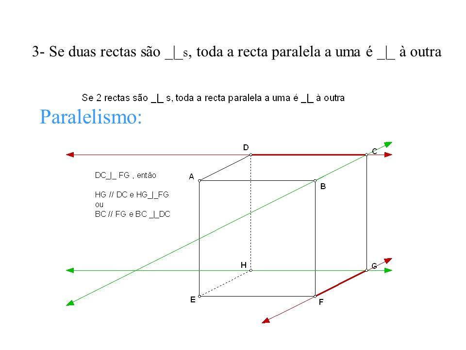 4- Se duas rectas são // s, toda a recta _|_ a uma é _|_ à outra