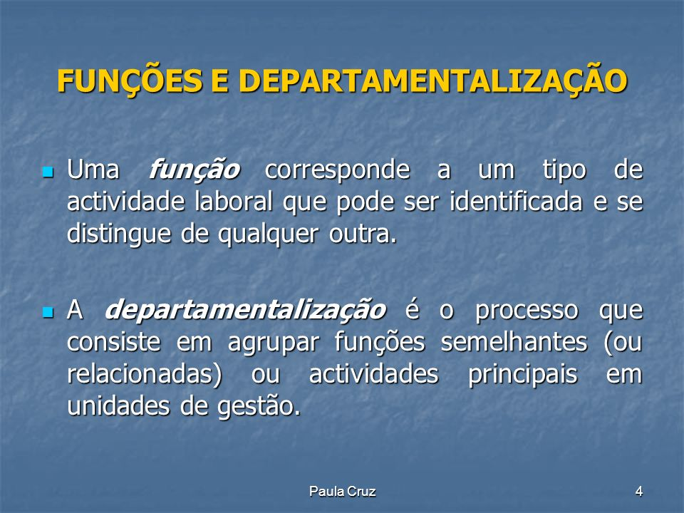 Paula Cruz35 ESTRUTURAS ORGANIZACIONAIS Estrutura organizacional é o conjunto de relações formais entre os grupos e os indivíduos que constituem a organização.