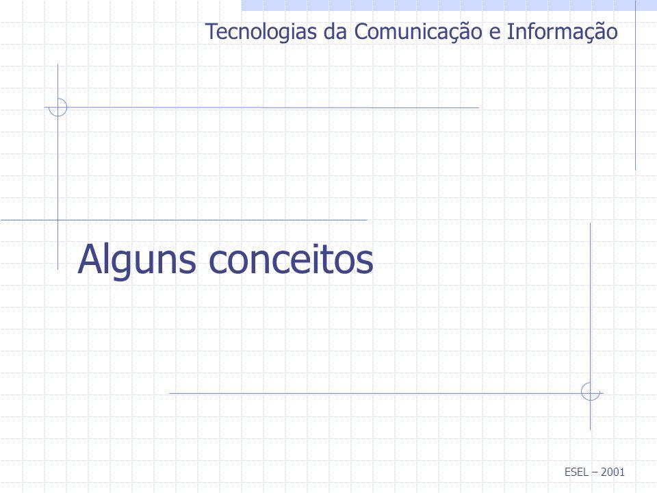 Alguns conceitos Tecnologias da Comunicação e Informação ESEL – 2001
