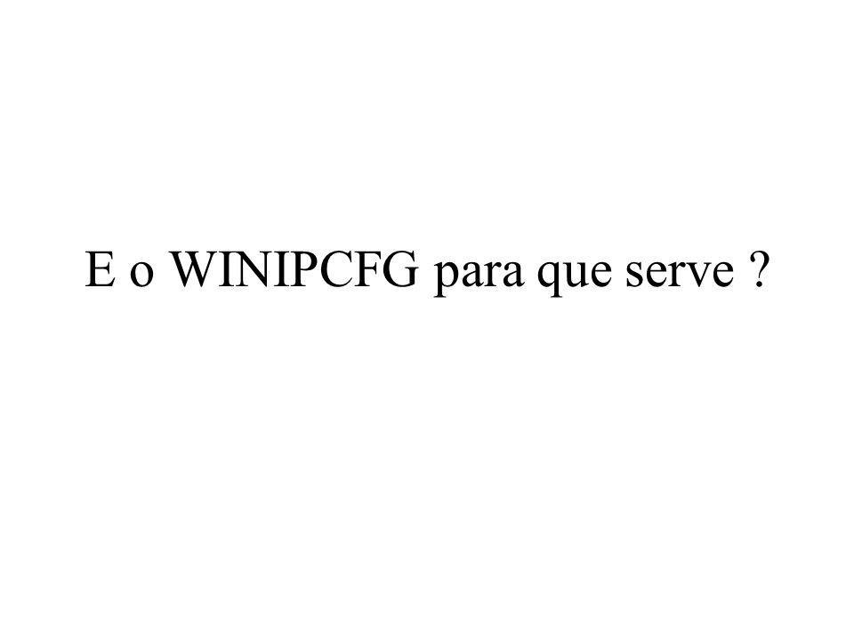 E o WINIPCFG para que serve ?