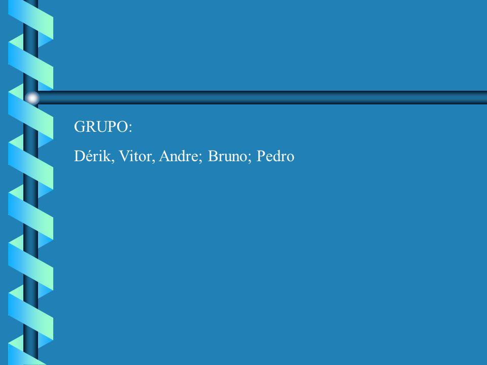 GRUPO: Dérik, Vitor, Andre; Bruno; Pedro