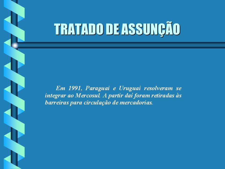 TRATADO DE ASSUNÇÃO TRATADO DE ASSUNÇÃO