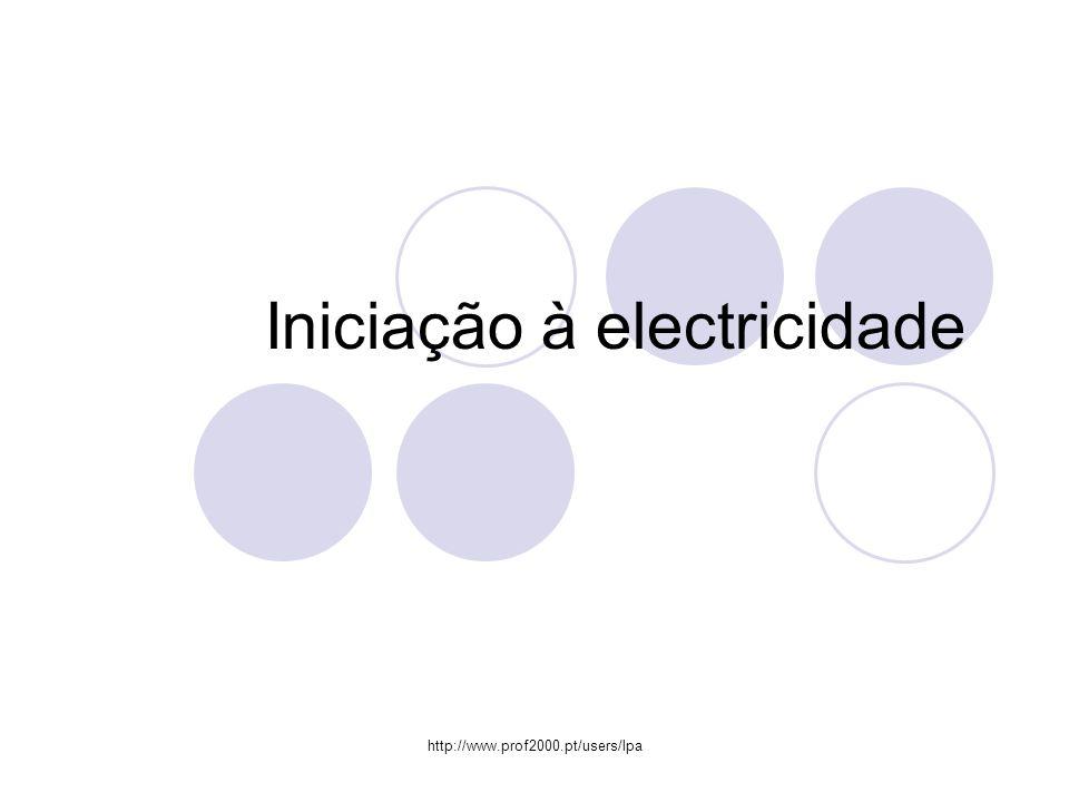 http://www.prof2000.pt/users/lpa Iniciação à electricidade