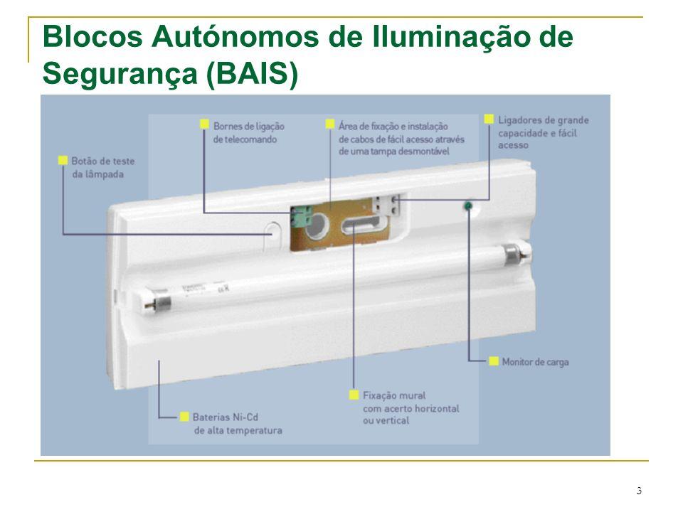 3 Blocos Autónomos de Iluminação de Segurança (BAIS)