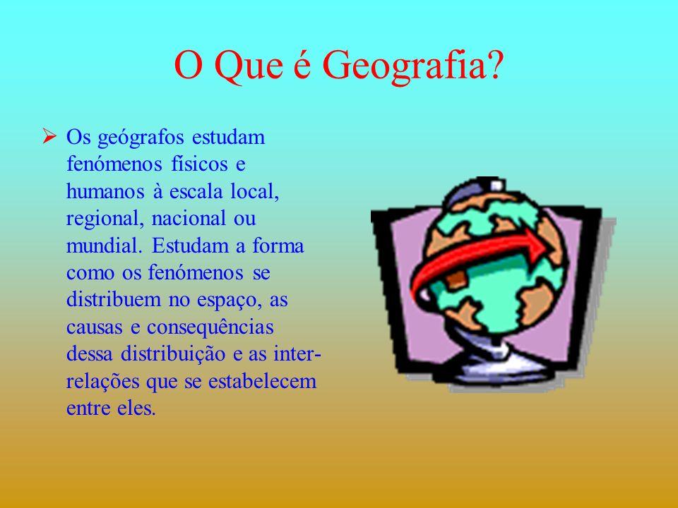 O que preciso saber para seguir o curso.O Que é Geografia.
