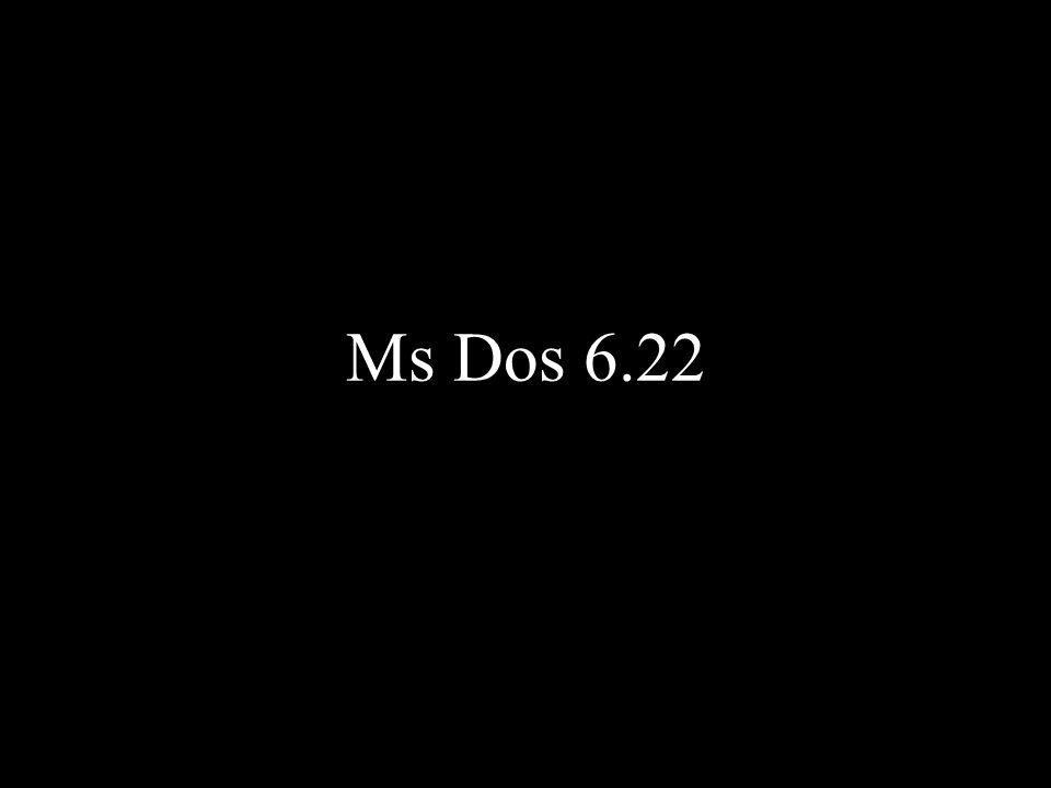 C:\> O Ms-Dos é um ambiente de trabalho pouco amigo do utilizador.