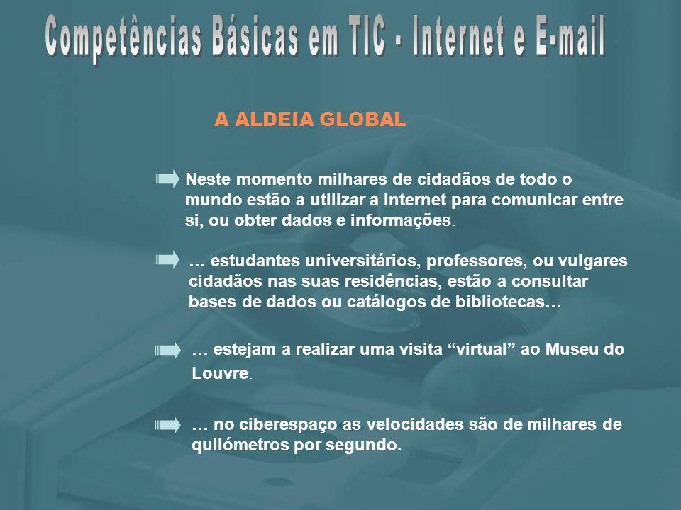 Neste momento milhares de cidadãos de todo o mundo estão a utilizar a Internet para comunicar entre si, ou obter dados e informações.