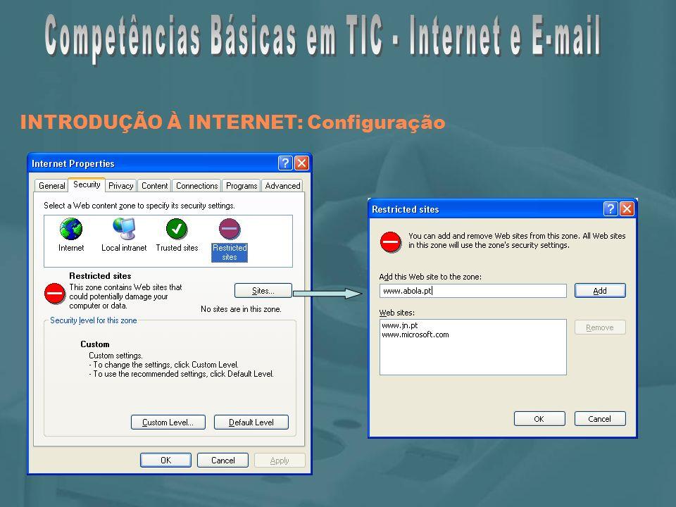INTRODUÇÃO À INTERNET: Configuração