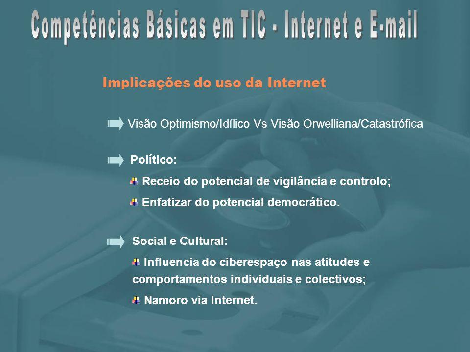 A Janela da Aplicação Barra de Ferramentas Padrão Barra de Endereço Barra de Menus INTRODUÇÃO À INTERNET – O Internet Explorer