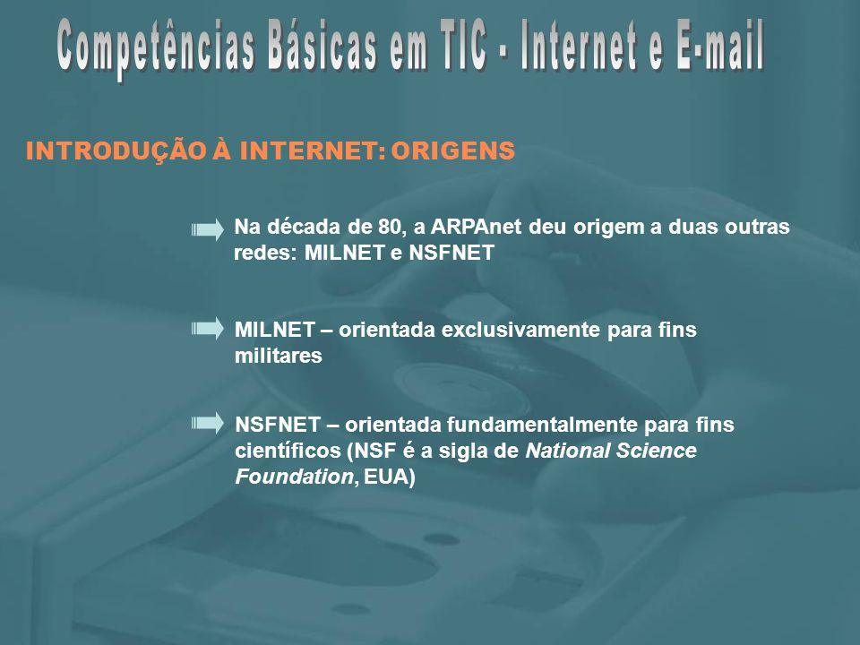 Foi no âmbito da NSFNET que, durante a década de 80, começou a crescer o grande sistema de redes, que posteriormente veio a ser denominado por Internet.