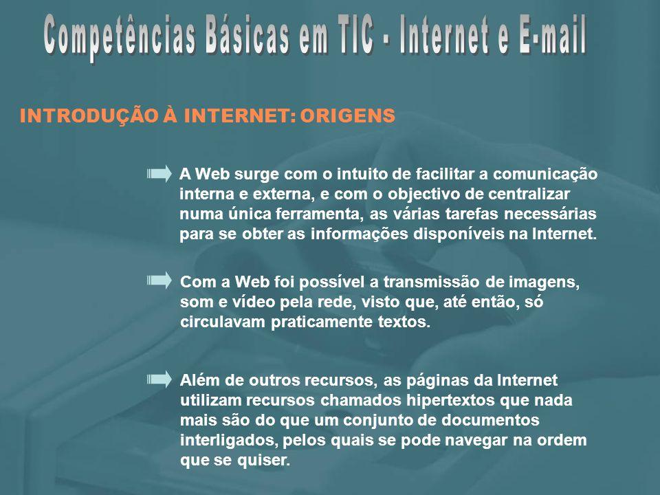Enviar uma mensagem INTRODUÇÃO AO E-MAIL: O Microsoft Outlook Express Fonte: Planeta TIC, Porto Editora
