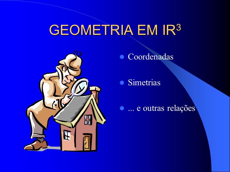 GEOMETRIA EM IR 3 Coordenadas Simetrias... e outras relações