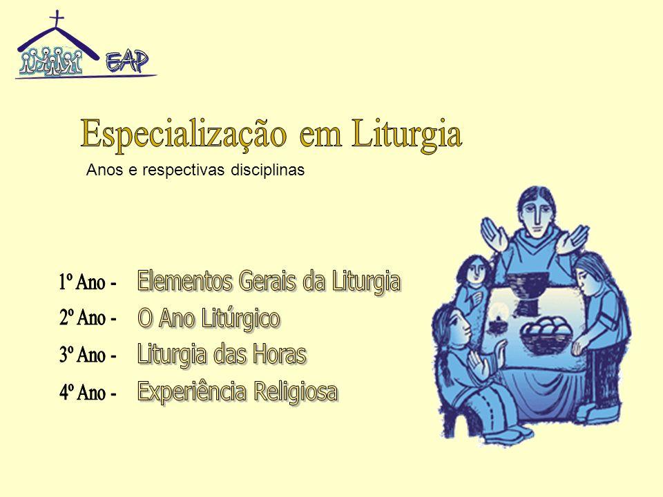 U.D.1A Liturgia U.D.2A Assembleia Litúrgica U.D.3A Celebração Litúrgica U.D.4O Espaço e o Tempo da Celebração U.D.5O Ano Litúrgico U.D.6A Liturgia das Horas U.D.7A Pastoral Litúrgica Conteúdos