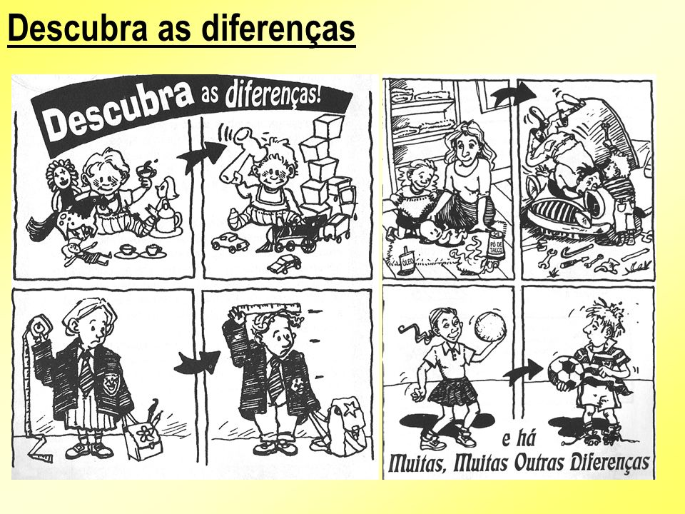 É verdade que homens e mulheres são diferentes.