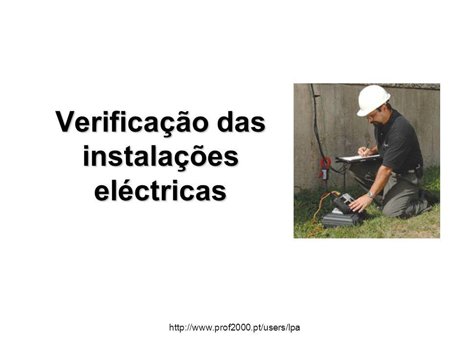 http://www.prof2000.pt/users/lpa Verificação das instalações eléctricas