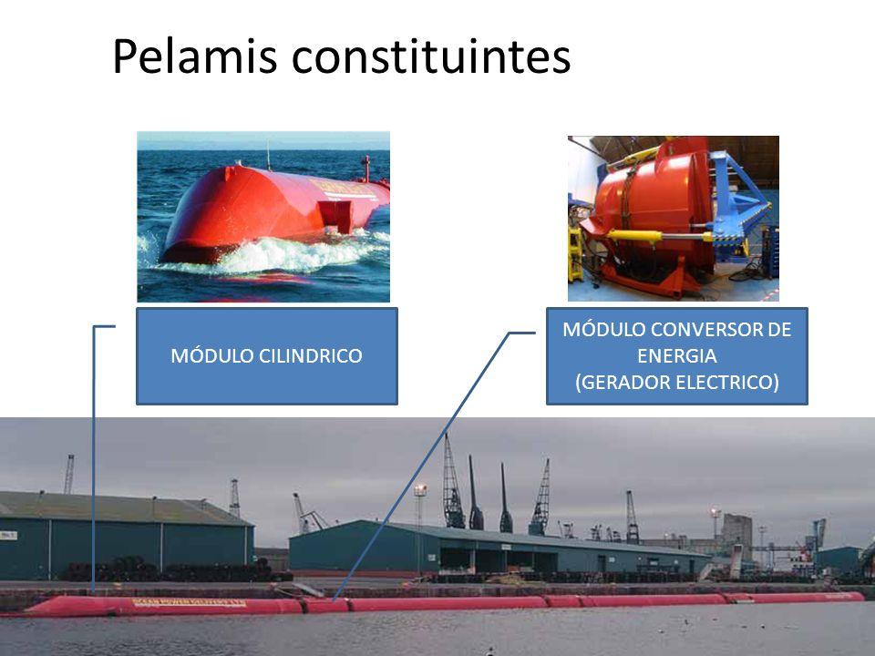MÓDULO CILINDRICO MÓDULO CONVERSOR DE ENERGIA (GERADOR ELECTRICO) Pelamis constituintes