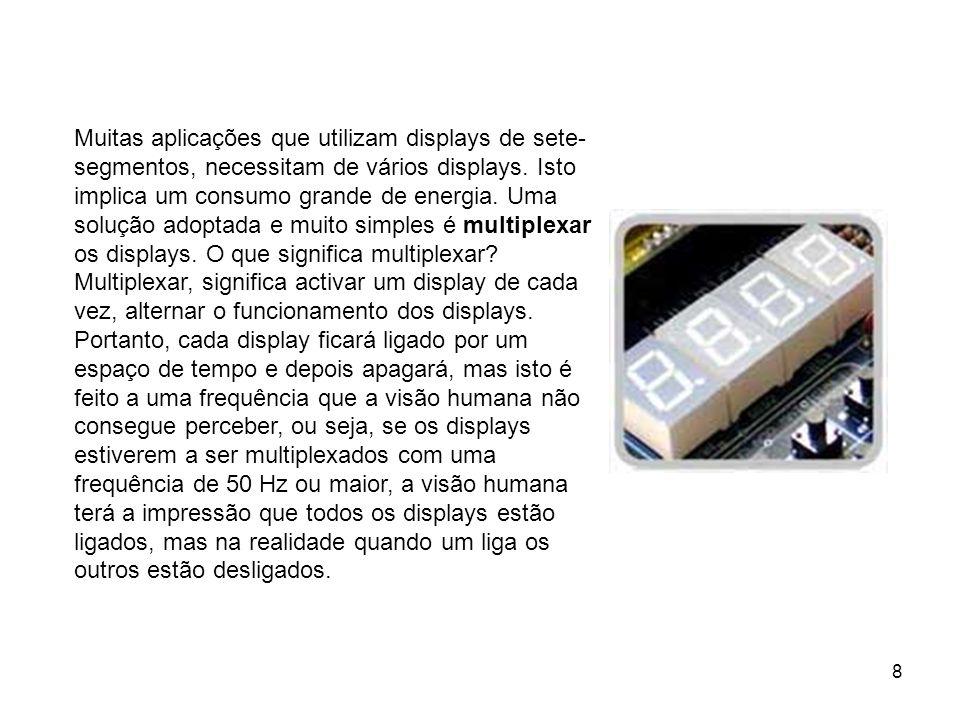 Lucínio Preza de Araújo9 Display matriz de ponto A matriz de ponto é muito semelhante ao display, ou seja, é uma matriz de leds no formato 7x5, só que ao contrário do display de 7 segmentos, não conseguimos ligar todos os leds ao mesmo tempo, só uma coluna de cada vez.