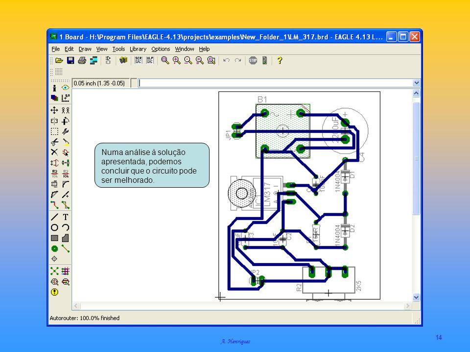 A. Henriques 14 Numa análise à solução apresentada, podemos concluir que o circuito pode ser melhorado.